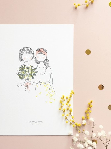 Affiche-soeurs-mimosas-The-Lovely-things-Maison-Paon