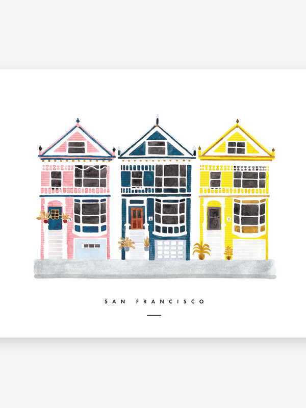 Affiche-San-Fransisco-all-the-cays-to-say-maison-paon